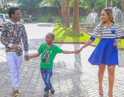What a wonderful family! Bahati's message to his son Morgan… The kid has grown big (Photos)