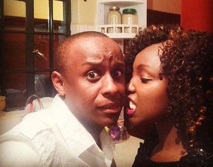 Catherine Kamau with boyfriend