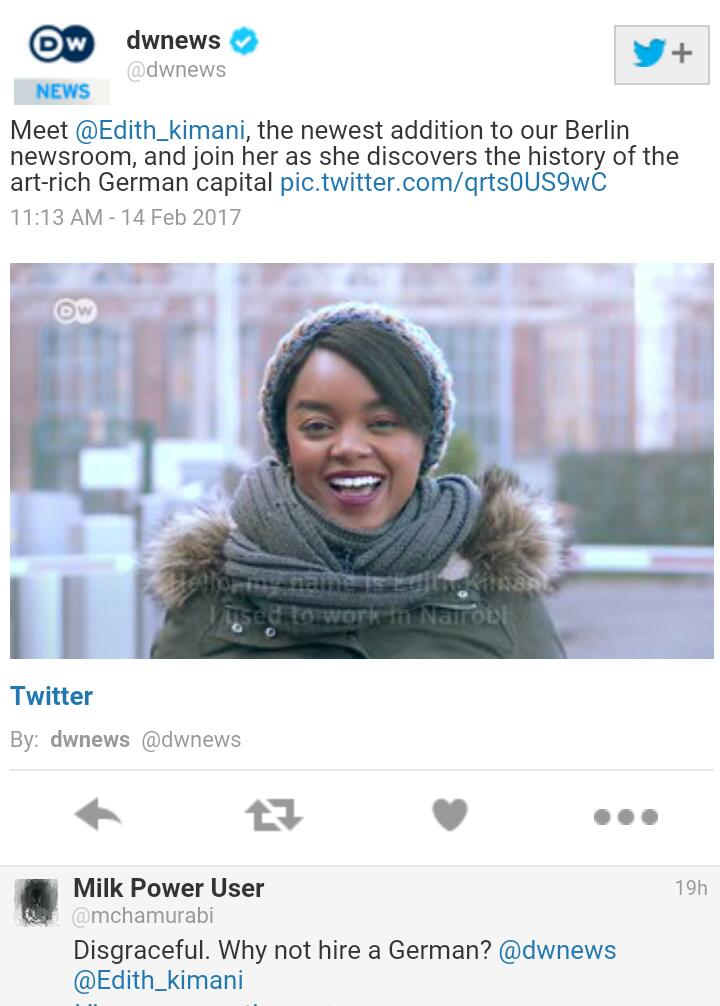 Edith Kimani unveiled by DW