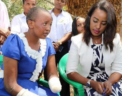 Jackline Mwende's woes are over! Photos of the new posh house and supermarket that the lady whose limbs were chopped off by her husband has been given