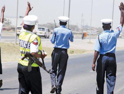 A photo of a Police man kissing a female matatu driver causes a stir online