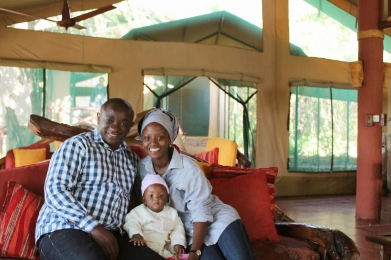 Namtero mdee and her husband