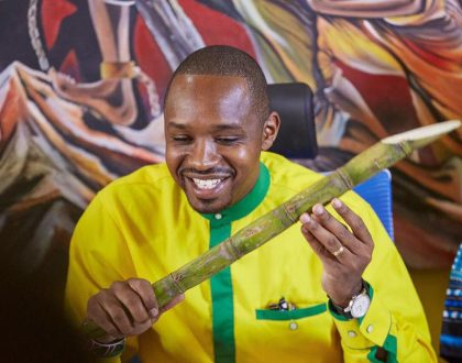 Huyu jamaa ni cartoon tu! Boniface Mwangi explains why his newly launched political party has sugarcane as its symbol… Hold your laughter just yet