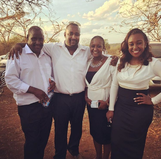 Brian Msafiri and his family