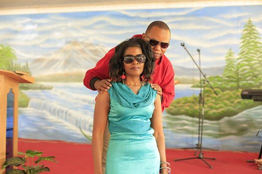 Pastor Eric Omba with Gloria Muliro