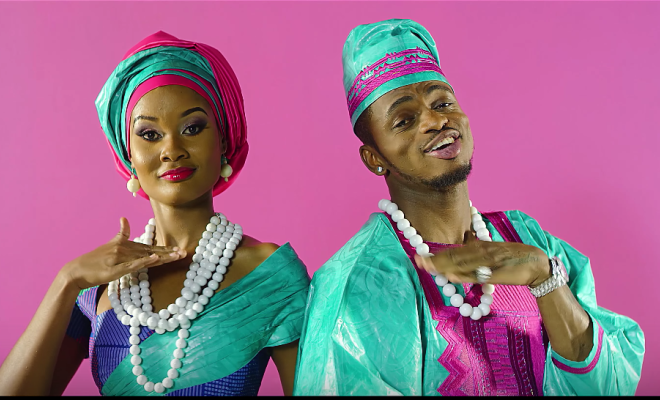 Hamisa mobetto with Diamond Platnumz during the 'salome' video shoot