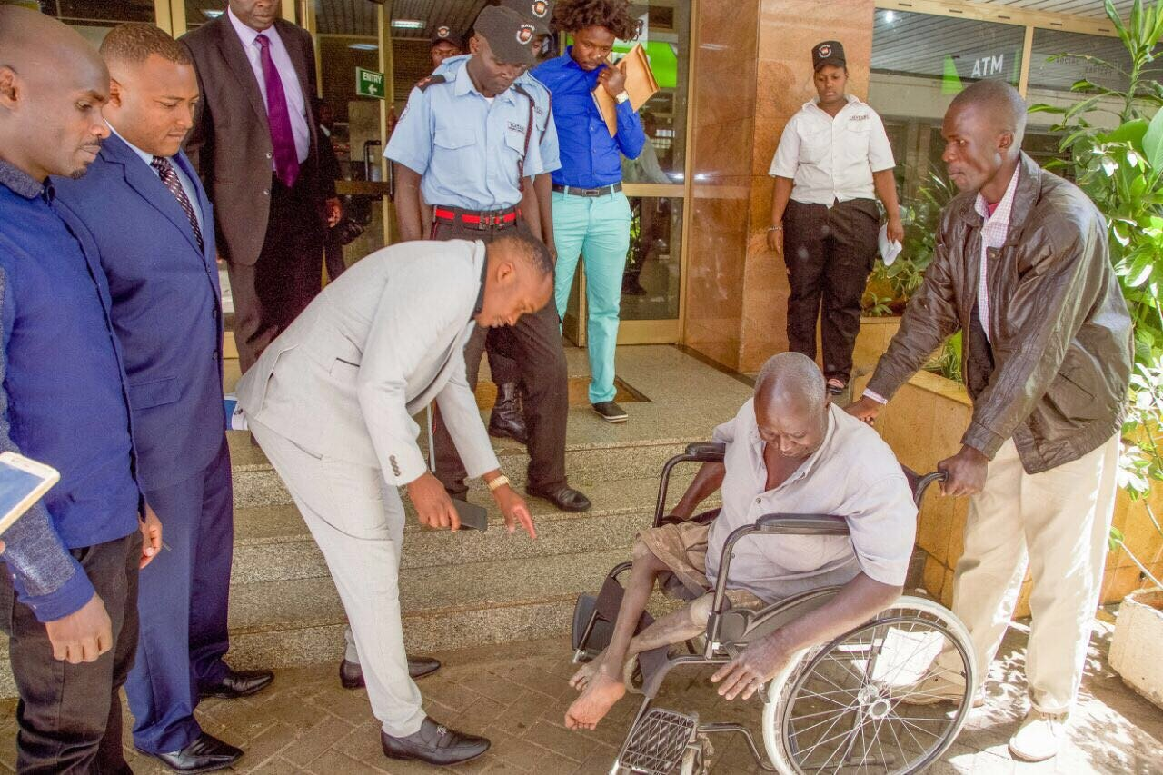 Jaguar gifts a disabled man with a brand new chair