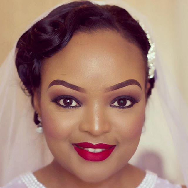 Liz Ntonjira facebeat for her wedding
