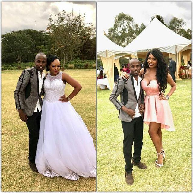 Liz Ntonjira's white wedding