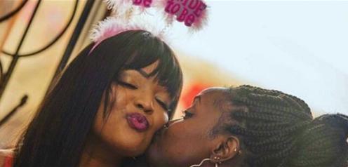 Liz Ntonjira's bridal party