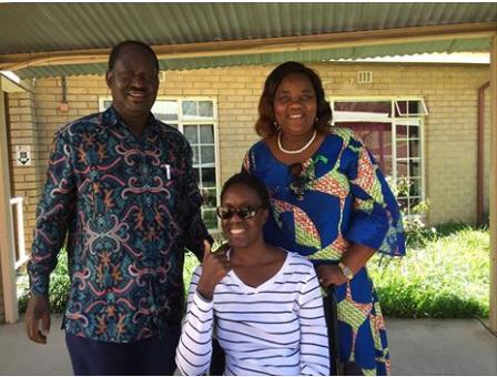 Raila odinga and Rosemary Odinga