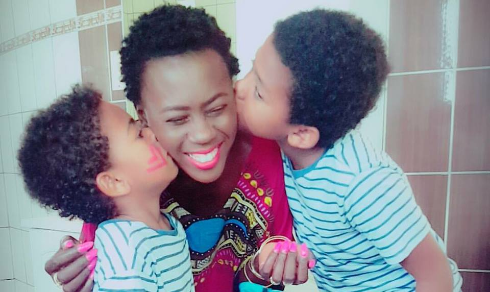 Akothee returns her sons to their baby daddies (Photos)