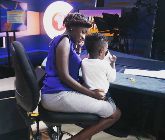 Jacque Maribe with her son