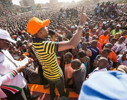 Caught on camera: Mohammed Ali beaten silly by Joho's brother Said Abdalla Saido during ODM rally in Mombasa