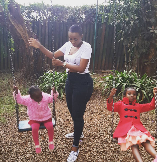 Nicah with her daughters