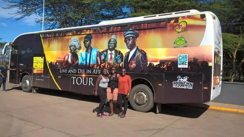 Photo: Courtesy Sauti Sol tour bus involved in an accident,