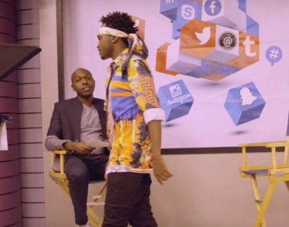 Bahati embarrasses Larry Madowo as he rudely walks out of an interview he had with him on NTV