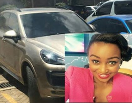 Confirmed: Betty Kyallo's Kes 13 million Porsche Cayenne is registered under Hassan Joho's name (Evidence)