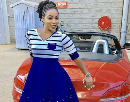 """EMB queen"" Bahati's girlfriend Diana Marua shows of a sleek BMW convertible"