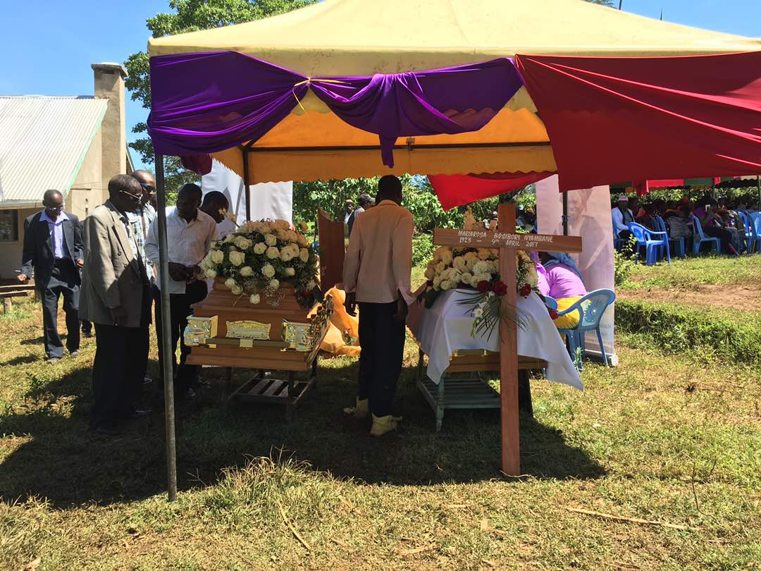 Ayeiya's final journey on earth: Ayeiya buried alongside his grandmother who also passed on recently