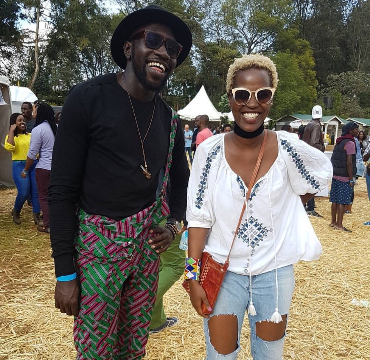 Sauti Sol's Fancyfingers with his fiance