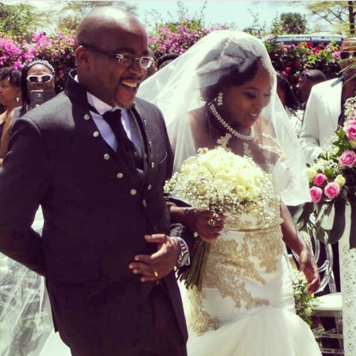Jimmy Gathu walks his daughter down the aisle