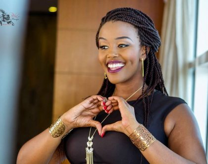 Maureen Kunga's make up free face