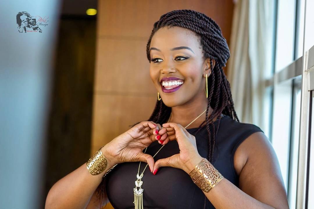 Maureen Kunga's make up free face