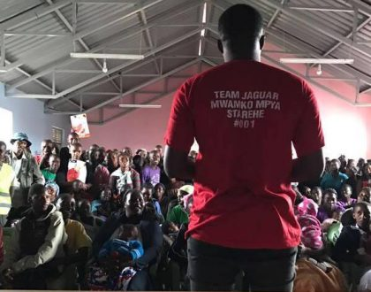 Jaguar sends his competitors back to the drawing board as he launches massive project in Starehe constituency to win over electorates (Photos)