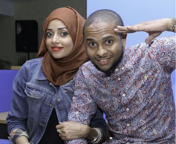 Jamal Gaddafi with wife