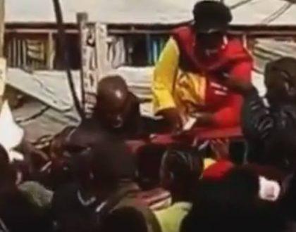 Voter bribery? Bishop Margaret Wanjiru caught on camera making it rain money to her supporters (Video)