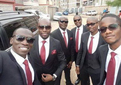 Dennis Okari among groomsmen at Ken Mijungu's wedding… He looked dapper than the groom himself (Photos)