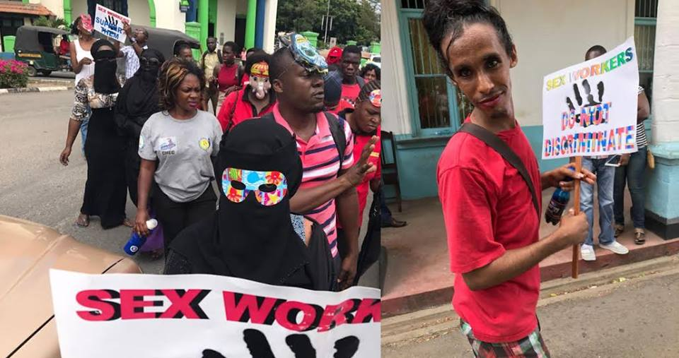Irate sex workers in Mombasa storm Casablanca nightclub after brutal murder of their colleague (Photos)