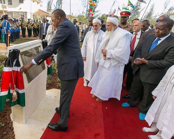 Uhuru during the the inauguration of Aljamea-tus-Saifiyah Arabic Academy Complex in Kenya
