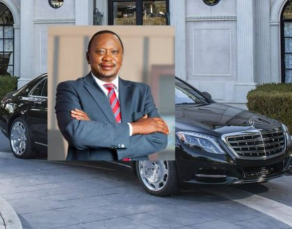 President Uhuru gives Chris Kirubi a run for his money as he acquires a brand new Kes 40 million Maybach (Photos)