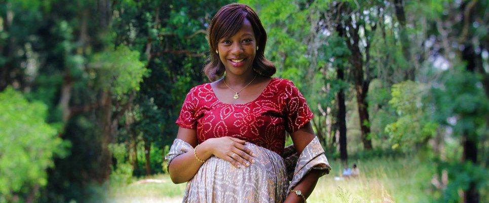 The late Janet Ikua pregnant with her last born