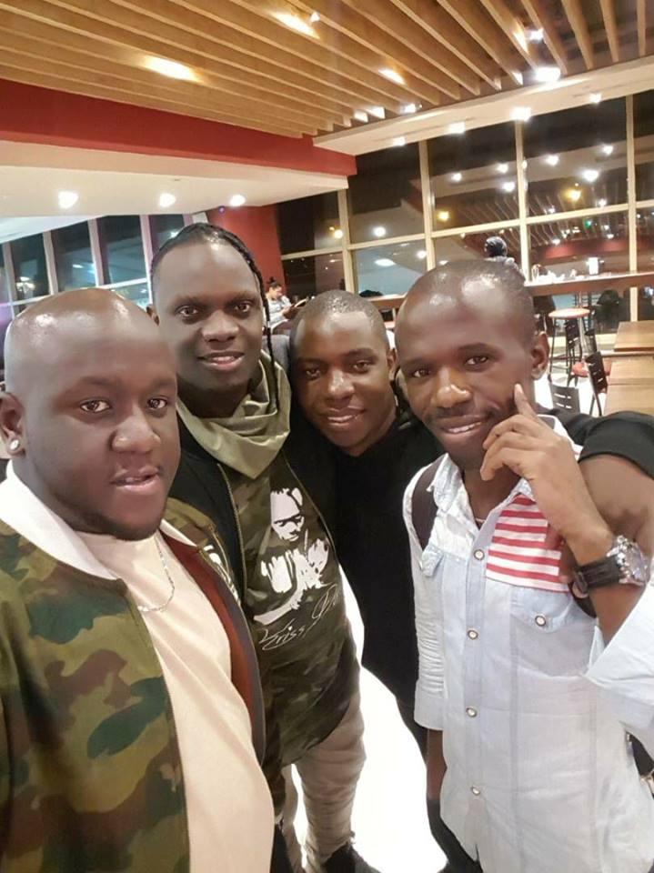 Samuel Abisai with Kris Darling and Joe Mfalme