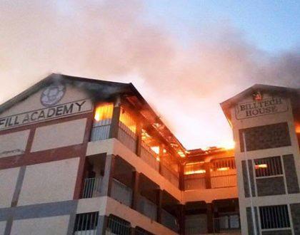 Infill Academy Komarock top floor caught on fire