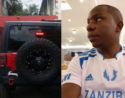 From France to Zanzibar; Kes221 mega jackpot winner Samuel Abisai causes a stir with a brand new Jeep Wrangler (Photos)