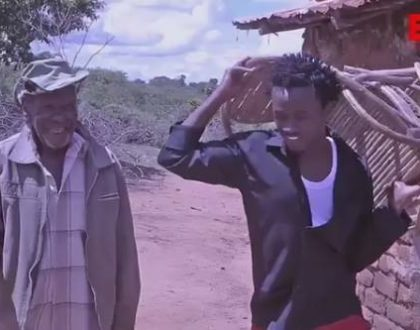 """""""I left the City to trace my roots"""" Bahati meets his centenarian grandfather after years (Photos)"""