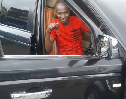 Former street boy turned Ghetto Radio presenter – Bonoko buys a sleek Range Rover (Photos)