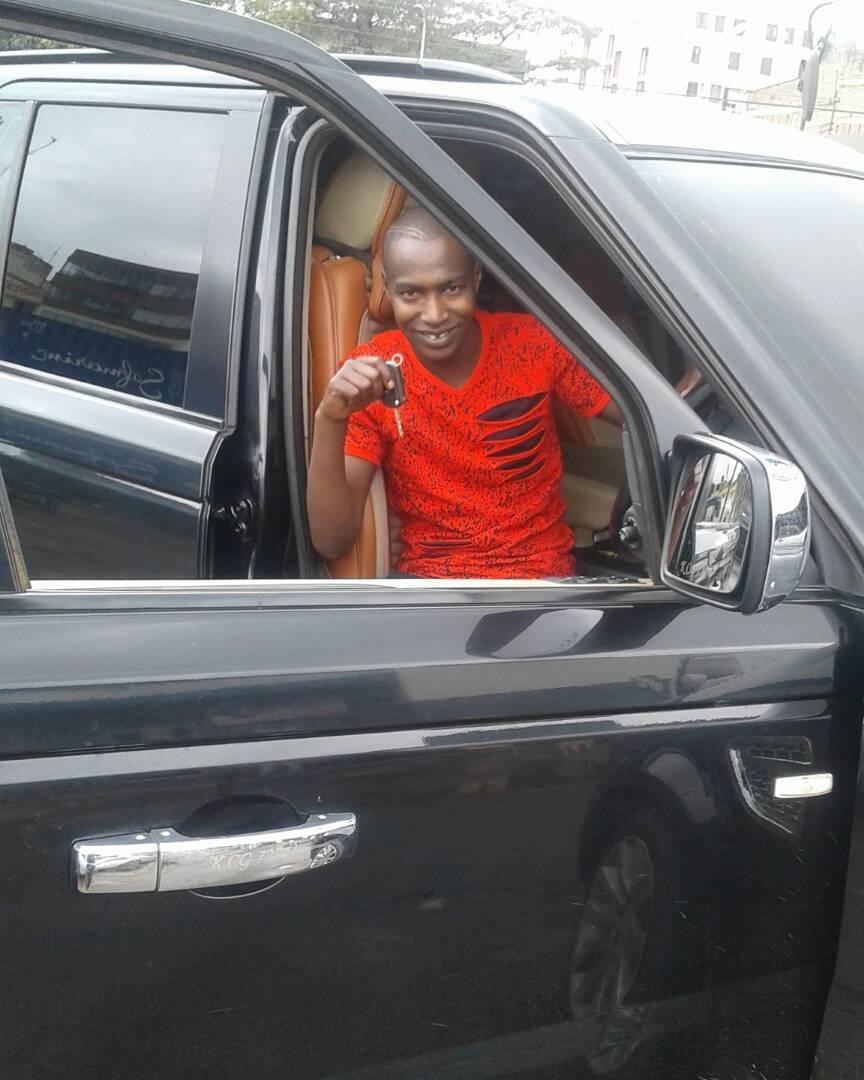 Former street boy turned Ghetto Radio presenter – Bonoko buys a sleek Range Rover (Photos)