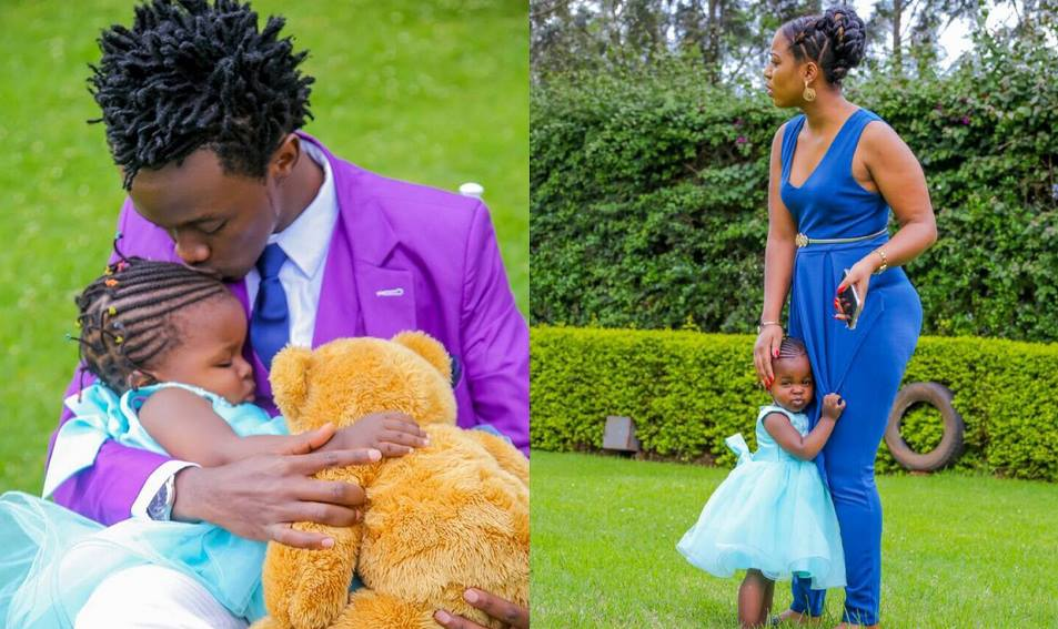 Bahati finally sends a belated birthday message to his daughter after turning 2 years