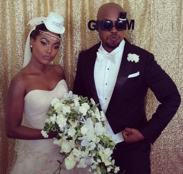 Paul Ndichu with his bride
