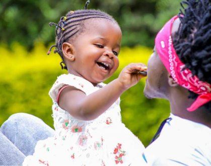"""Alafu tunaka kujua mama ya mtoto"" fans react after Bahati introduces his biological daughter"