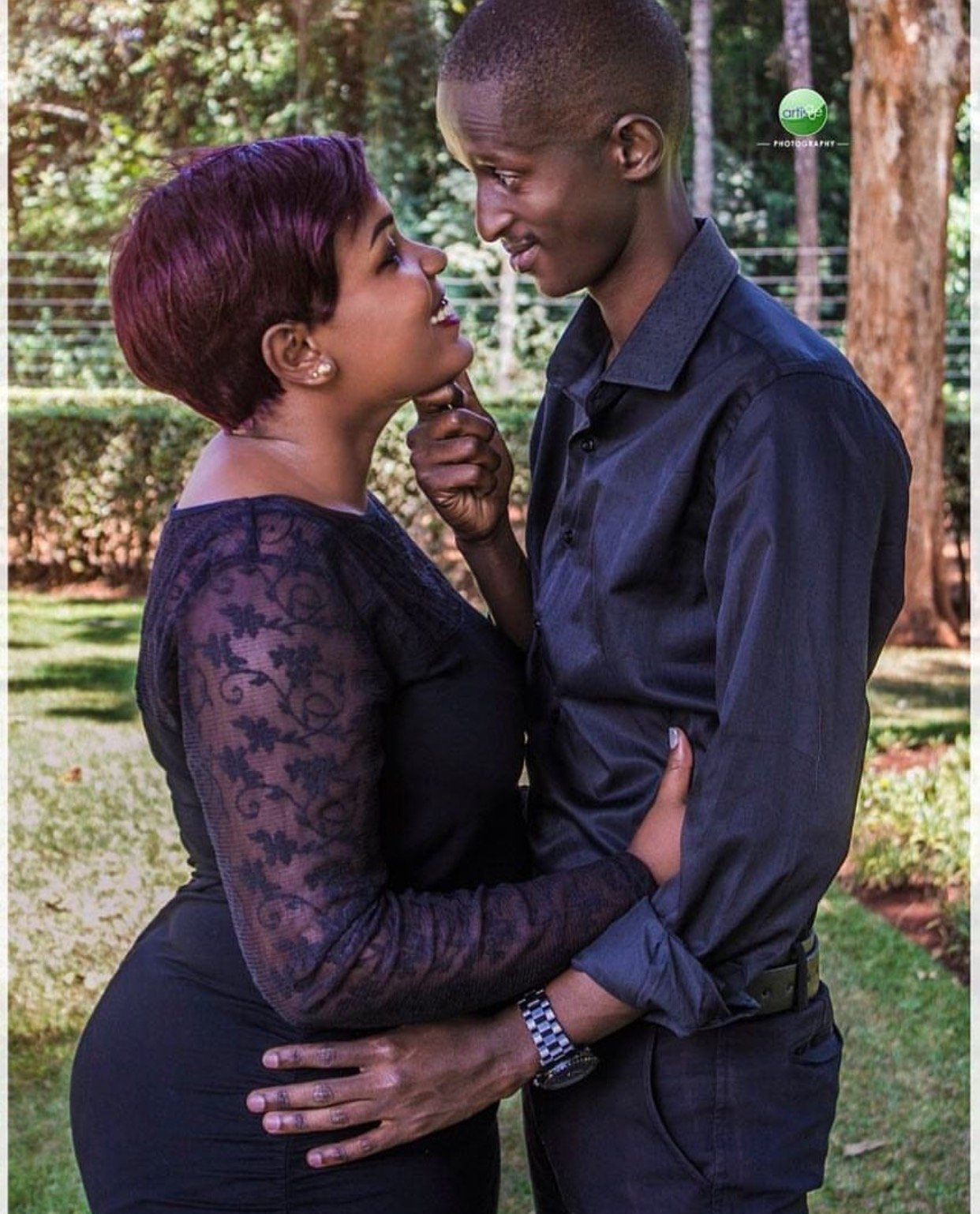 Comedian Njugush shows off his grown kitambi, proof that the right woman can change the impossible