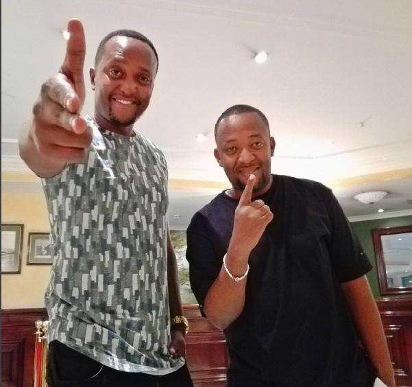 Mzazi Willy with Diamond Platnumz manager, Babu Tale