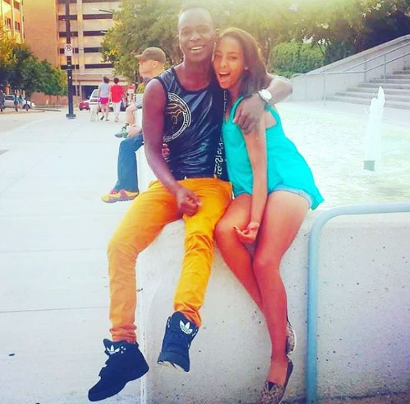 Willy Paul with his sister