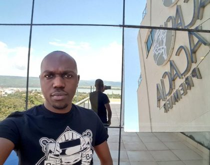 Larry Madowo's worst nightmare becomes real as male stalker cause havoc at his hotel room in Rwanda