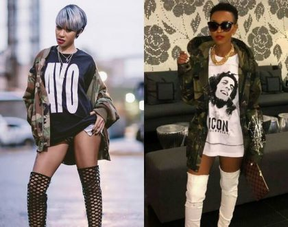 """Just stick to whoring in Intercontinental"" Angry Kenyans tear into female rapper after she attacked Huddah Monroe"